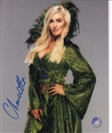 Charlotte Flair Signed WWE Wrestling 8x10 Photo (Pro Player COA)