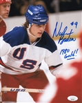 "Neal Broten ""1980 Gold!!"" Signed Team USA 1980 Olympics 8x10 Miracle on Ice Photo (JSA COA)"