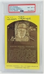 Willie Stargell Signed Hall of Fame Plaque Postcard - Autograph Graded NM-MT 8 (PSA/DNA)