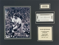 Allie Reynolds Signed New York Yankees Cut Signature in 14x18 Photo Matted Display (JSA COA)