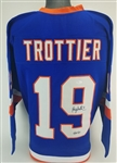 "Bryan Trottier ""HOF 97"" Signed New York Islanders Custom Jersey (JSA Witness COA)"