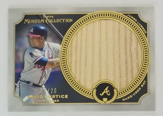 David Justice Atlanta Braves 2013 Museum Collection Jumbo Lumber Relic Lmt. Ed Baseball Card #MMJLR-DJU