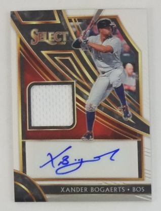 Xander Bogaerts Boston Red Sox 2020 Select Lmt. Ed Autograph Relic Baseball Card #SM-XB - #70 of 99