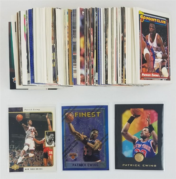 Lot of (207) Patrick Ewing Basketball Cards