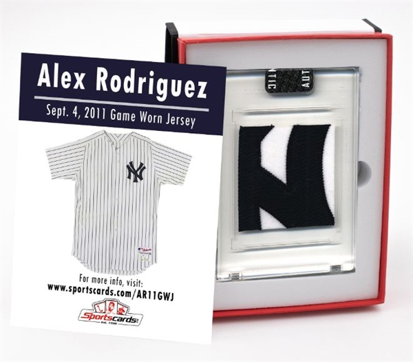 Alex Rodriguez 2011 Ny Yankees Game Worn Jersey Mystery Swatch Box! Photo Matched! Look For: MLB/Team Patches, Buttons, Tag Swatches & More!
