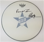 "Ringo Starr ""Peace and Love"" Signed 14 Inch Remo Drumhead (JSA LOA)"