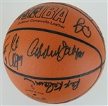 Kareem Abdul-Jabbar, Dennis Johnson & Others 1999-2000 L.A. Clippers Team Signed Spalding NBA Basketball w/ 19 Total Sigs (JSA LOA)