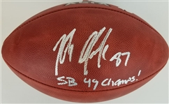 "Rob Gronkowski Patriots ""SB 49 Champs!"" Signed Wilson Official Super Bowl XLIX Football (JSA Witness COA)"