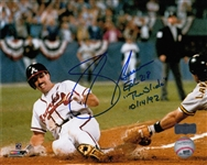 "Sid Bream ""EPH 2:8"" & ""The Slide 10/14/92"" Signed Atlanta Braves 8x10 Photo (Radtke Sports COA)"