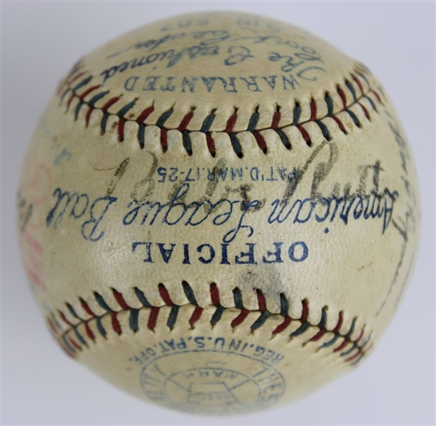 Babe Ruth, Lou Gehrig, Walter Johnson, Jimmie Foxx, Eddie Collins & Others (17 Total) Signed Reach OAL Ban Johnson Baseball (JSA LOA)
