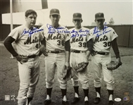 Tom Seaver, Nolan Ryan, Koosman & Gentry Signed & Inscribed 1969 Mets 16x20 Photo (JSA COA)