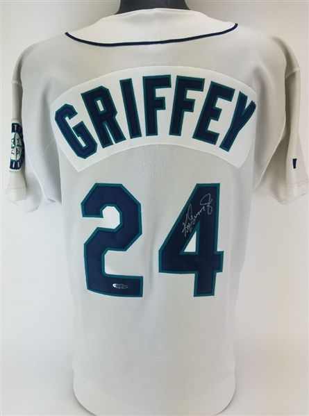 Ken Griffey Jr. Signed Russell Athletic Authentic Diamond Collection Seattle Mariners Jersey (UDA COA)