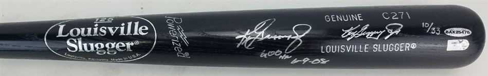 "Ken Griffey Jr. ""600 HR 6-9-08"" Signed Lmt Ed. Louisville Slugger C271 Game Model Baseball Bat (UDA COA)"