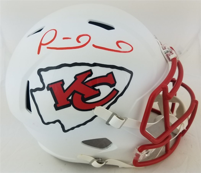 Patrick Mahomes Signed Full Size Replica Kansas City Chiefs Flat White Helmet (JSA Witness COA)