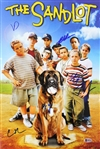 The Sandlot Cast Signed 12x18 Photo w/ 6 Sigs - Smalls, Squints, Ya-Ya, Tommy, Timmy, DeNunez (Beckett Witness COA)