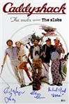 Chevy Chase, Cindy Morgan & Michael OKeefe Signed & Inscribed 12x18 Caddyshack Movie Poster Photo (Beckett Witness COA)