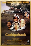 Chevy Chase Signed 24x36 Caddyshack Movie Poster (Beckett Witness COA)