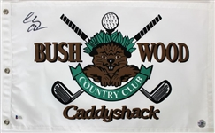 Chevy Chase Signed Bushwood CC Caddyshack Golf Pin Flag (Beckett Witness COA)