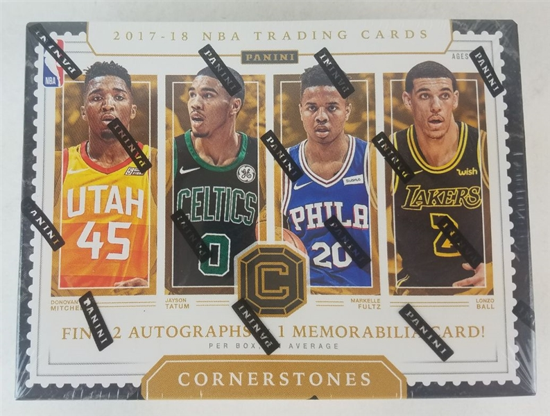 Sealed 2017 Cornerstones Basketball Card Hobby Box - Possible Jayson Tatum and Donovan Mitchell Rookies!