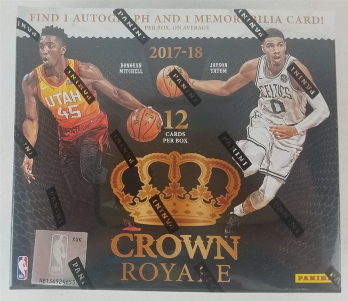Sealed 2017 Crown Royale Basketball Card Hobby Box - Possible Donovan Mitchell and Jayson Tatum Rookies!