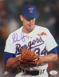 "Nolan Ryan Signed Texas Rangers 8x10 ""Bloody Face"" Photo (JSA COA & Ryan Hologram)"