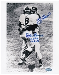 "Yogi Berra & Don Larsen ""WS PG 10-8-56"" Signed NY Yankees World Series Perfect Game 8x10 Photo (Steiner COA)"