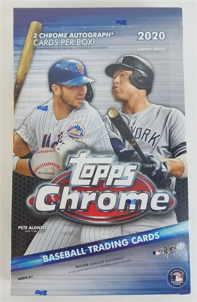 Sealed 2020 Topps Chrome Baseball Card Hobby Box - Possible Luis Robert and Bo Bichette Rookies!