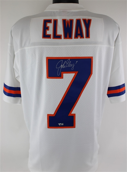 John Elway Signed Mitchell & Ness NFL Legacy 1990 Denver Broncos Throwback Jersey (Fanatics Certified)
