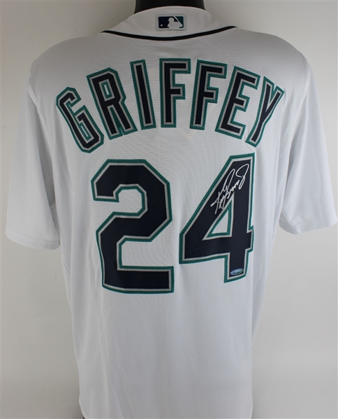 Ken Griffey Jr. Signed Seattle Mariners Majestic MLB CoolBase Jersey (Tristar Certified)