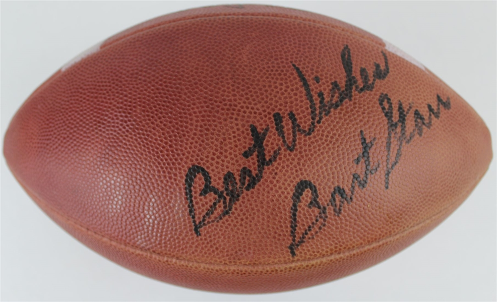 "Bart Starr ""Best Wishes"" Signed Official Wilson NFL Pete Rozelle Game Football (JSA LOA)"