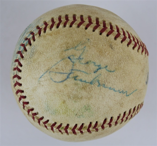 George Steinbrenner Signed Official Southern League Baseball (JSA LOA)