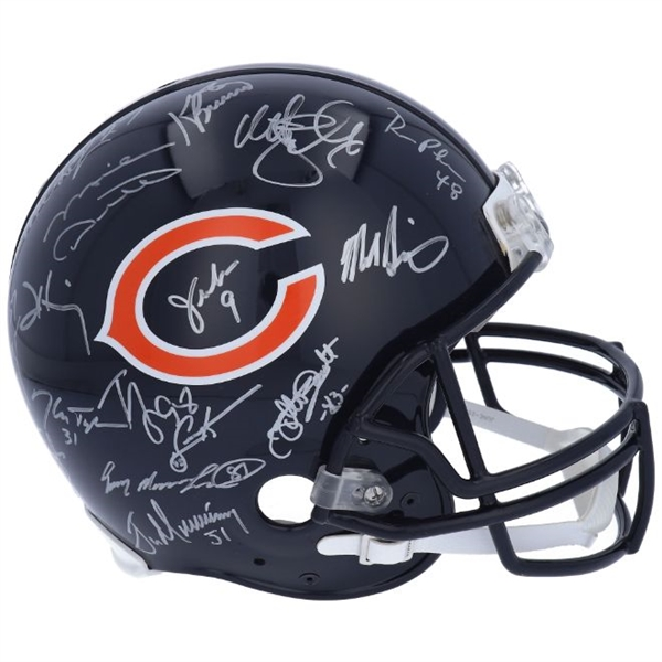 1985 Chicago Bears Team Signed (28 Total) Full Size Authentic Super Bowl XX Helmet (Fanatics Certified)