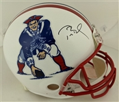 Tom Brady Signed Full Size Authentic Proline New England Patriots Throwback Helmet (Tristar Certified)