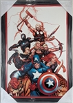 Stan Lee (d. 2018) Signed Marvel Comics Ultimate New Ultimates #5 Lmt Ed. Giclee Print on Canvas in 21x30 Frame Le #7/99 (JSA COA)