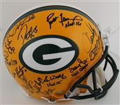 Green Bay Packers Super Bowl XXXI Team Signed Lmt Ed. Full Size Authentic Helmet w/ 21 Sigs Inc. Favre, Freeman, Butler, Winters (Radtke Sports COA)