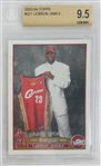 LeBron James Cleveland Cavaliers 2003 Topps Rookie Basketball Card #221 - Graded Gem MInt 9.5! (BGS)