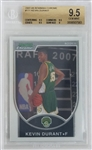 Kevin Durant Seattle Supersonics 2007 Bowman Chrome Lmt. Ed Rookie Basketball Card #111 - Graded Gem Mint 9.5! (BGS) - #1323 of 2999