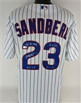 Ryne Sandberg Signed & 4x Inscribed Chicago Cubs Majestic Cooperstown Collection MLB CoolBase Jersey (Tristar Certified)