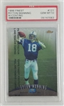 Peyton Manning Indianapolis Colts 1998 Finest Rookie Football Card with Coating #121 - Graded Gem Mint 10! (PSA)