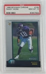 Randy Moss Minnesota Vikings 1998 Bowman Chrome Rookie Football Card #182 - Graded Gem Mint 10! (PSA)