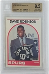 David Robinson San Antonio Spurs 1989 Hoops Short Print Rookie Basketball Card #138 - Graded Gem Mint 9.5 (BGS)