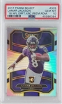 Lamar Jackson Baltimore Ravens 2017 Panini Select 18 Draft XRC Prizm Redemption Football Card #305 - Graded Gem Mint 10! (PSA)