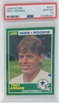 Troy Aikman Dallas Cowboys 1989 Score Rookie Football Card #270 - Graded Gem Mint 10! (PSA)