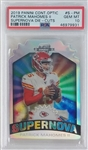 Patrick Mahomes II Kansas City Chiefs 2019 Panini Contenders Optic Supernova Die Cut Football Card #S-PM - Graded Gem Mint 10! (PSA)