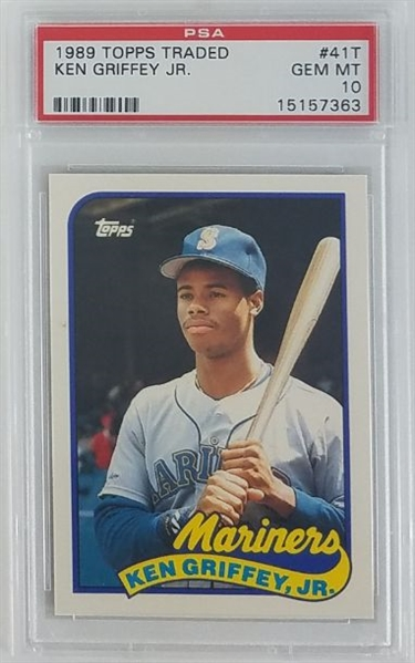 Ken Griffey Jr. Seattle Mariners 1989 Topps Traded Rookie Baseball Card #41T - Graded Gem Mint 10! (PSA)