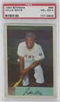 Willie Mays San Francisco Giants 1954 Bowman Baseball Card #89 - Graded VG-EX 4 (PSA)