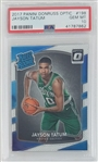 Jayson Tatum Boston Celtics 2017 Panini Donruss Optic Rookie Basketball Card #198 - Graded Gem Mint 10! (PSA)