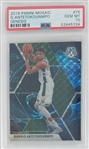 Giannis Antetokounmpo Milwaukee Bucks 2019 Panini Mosaic Genesis Basketball Card #75 - Graded Gem Mint 10! (PSA)