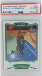 Russell Westbrook Oklahoma City Thunder 2008 Bowman Chrome Rookie Basketball Card #114 - Graded Gem Mint 10! (PSA)