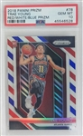 Trae Young Atlanta Hawks 2018 Panini Prizm Red, White, and Blue Rookie Basketball Card #78 - Graded Gem Mint 10! (PSA)